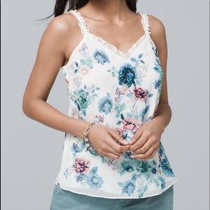 ❤️NWOT❤️WHBM MIXED-MEDIA FLORAL CAMI - M